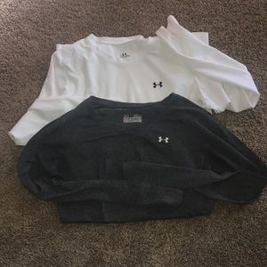 2 long sleeve Under Armour shirts!